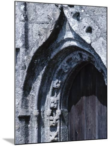 Exterior of Gray Stone Arch of Cathedral in France--Mounted Photographic Print
