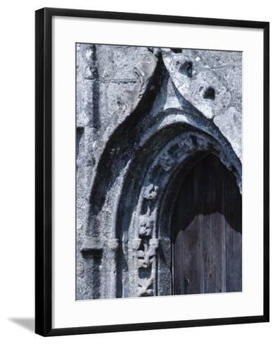 Exterior of Gray Stone Arch of Cathedral in France--Framed Art Print
