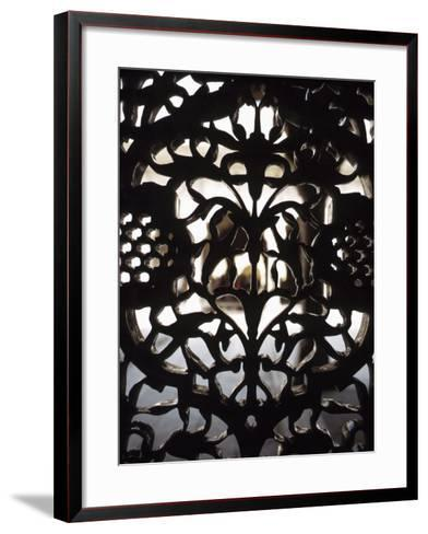 Ornate Detail of a Wrought Iron Gate in India--Framed Art Print