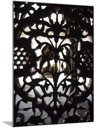 Ornate Detail of a Wrought Iron Gate in India--Mounted Photographic Print