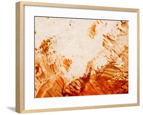 Colorful Paint on Pale Canvas--Framed Art Print