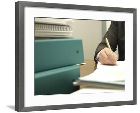 Businessperson Working at the Office--Framed Art Print
