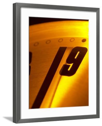 Close-up of Ticking Clock--Framed Art Print