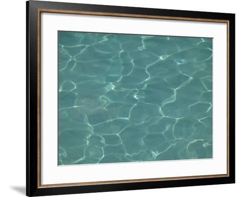 Close-up of Water Shimmering in a Pool--Framed Art Print