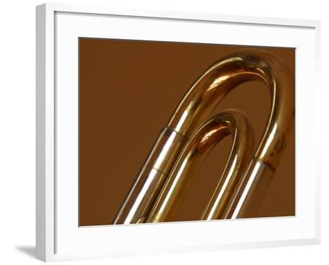 Close-up of a Brass Musical Instrument--Framed Art Print