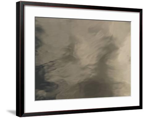 The Surface of Smooth Water with Rippling Shadows--Framed Art Print