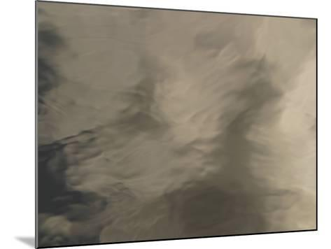 The Surface of Smooth Water with Rippling Shadows--Mounted Photographic Print