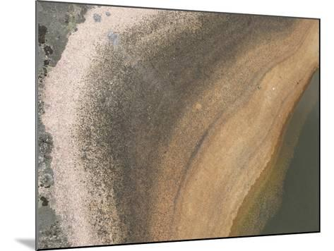 A Boulder with Lichens Growing and a Pool of Water Creating Layers of Color--Mounted Photographic Print