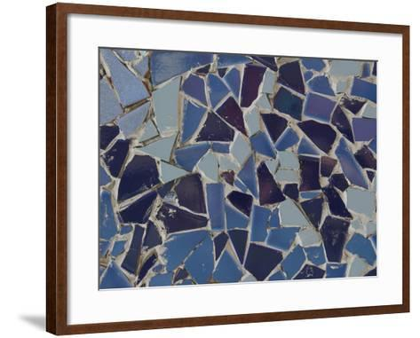 Close-up of Bright Pieces of Tile in a Colorful Mosaic--Framed Art Print