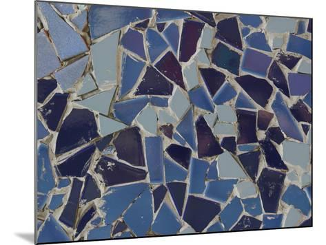 Close-up of Bright Pieces of Tile in a Colorful Mosaic--Mounted Photographic Print