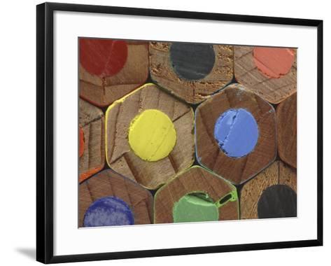 Bottoms of Colored Pencils--Framed Art Print