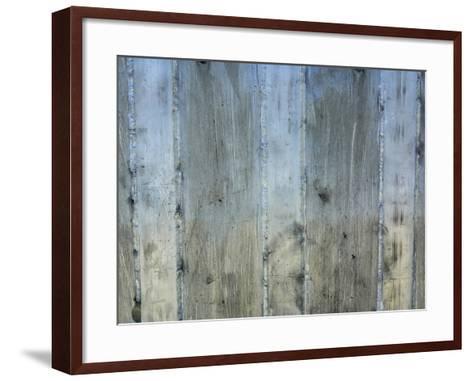 Close-up of a Rough Gray Concrete Wall--Framed Art Print