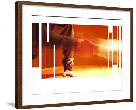 Blurry and Fragmented Image of a Handshake--Framed Art Print