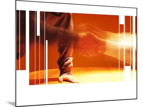 Blurry and Fragmented Image of a Handshake--Mounted Photographic Print