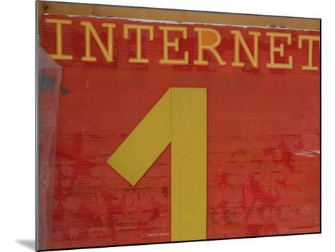 Internet Sign--Mounted Photographic Print
