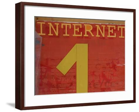 Internet Sign--Framed Art Print
