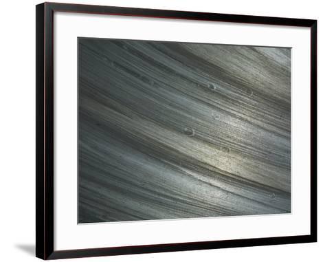 Close-up of Shiny Rough Brushed Metal--Framed Art Print