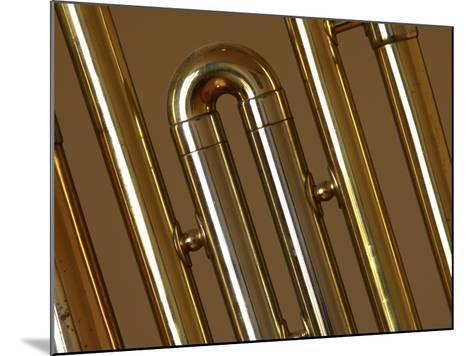 Close-up of a Brass Musical Instrument--Mounted Photographic Print
