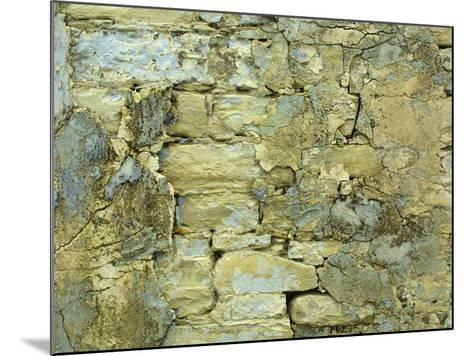 An Old Stone Wall with Crumbling Plaster--Mounted Photographic Print