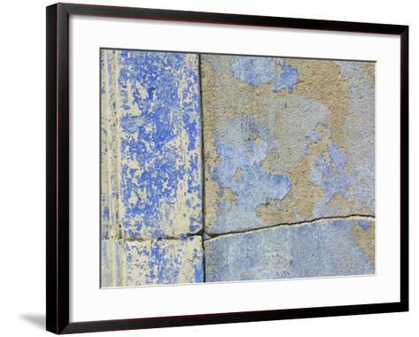 Close-up of Worn Stone Wall--Framed Art Print