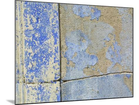 Close-up of Worn Stone Wall--Mounted Photographic Print