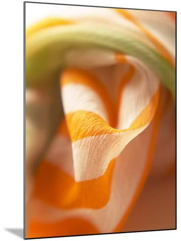Orange and White Striped Material--Mounted Photographic Print