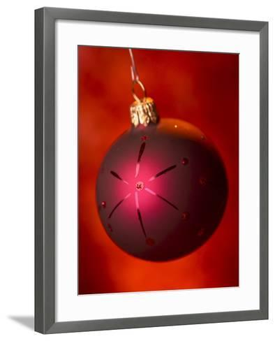 Close-up of Beautiful Christmas Ornament--Framed Art Print