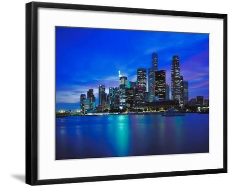 City Skyline at Night--Framed Art Print