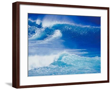 An Ocean Wave in Hawaii--Framed Art Print