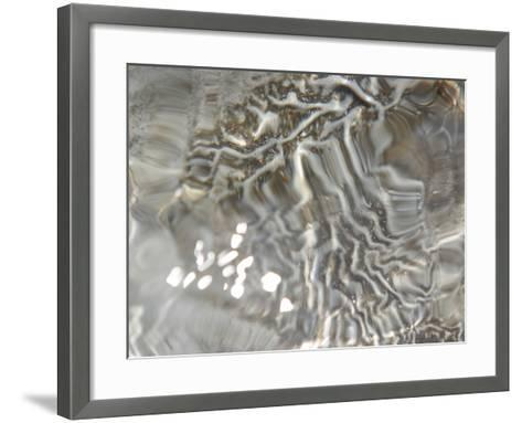 Close-up of Clear Rippling Flowing Water Sparkling in Sunlight--Framed Art Print