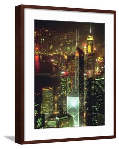 Cityscape of Hong Kong--Framed Art Print
