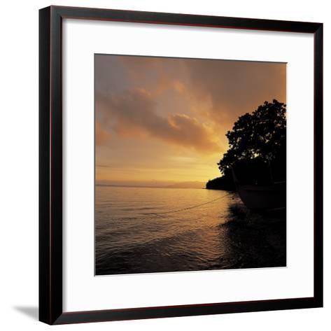 Sunset over a Sea--Framed Art Print