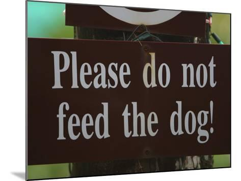 Do Not Feed the Dog Sign--Mounted Photographic Print