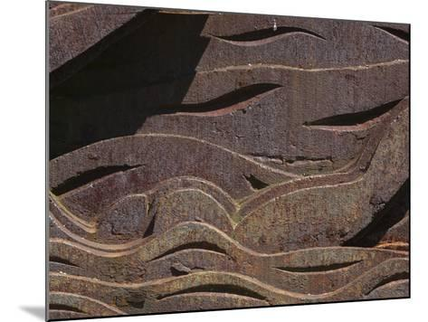 Close-up of the Carved Detail in Rusty Metal--Mounted Photographic Print