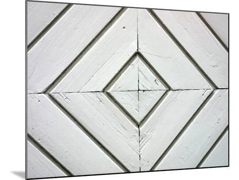 White Weathered Wooden Diamond Pattern--Mounted Photographic Print