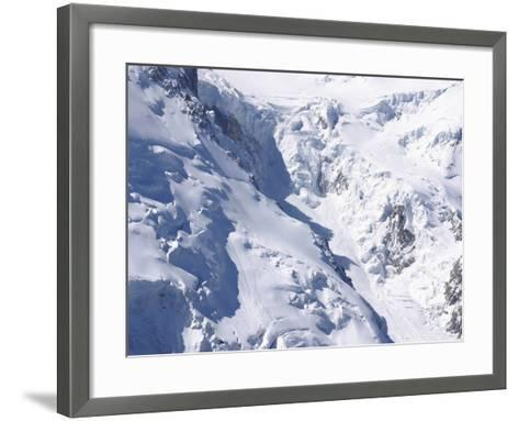 Aerial View of Cold Snow with Jagged Formations on a Rocky Mountain--Framed Art Print
