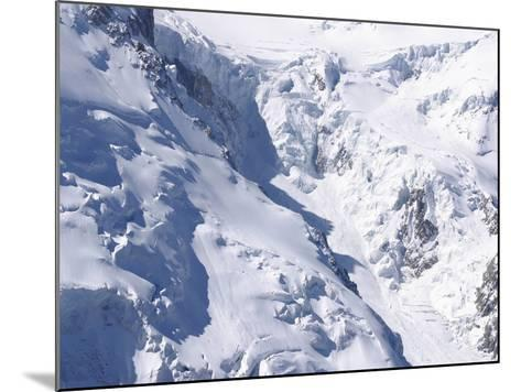 Aerial View of Cold Snow with Jagged Formations on a Rocky Mountain--Mounted Photographic Print