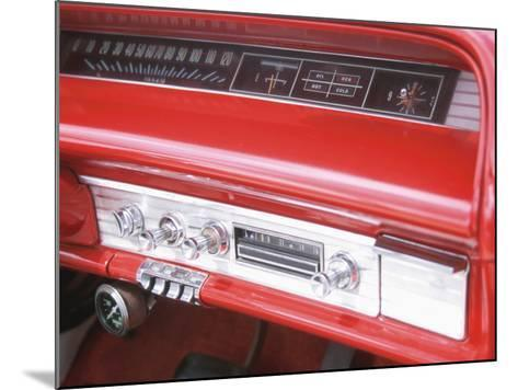Vintage Red Dashboard of Car--Mounted Photographic Print