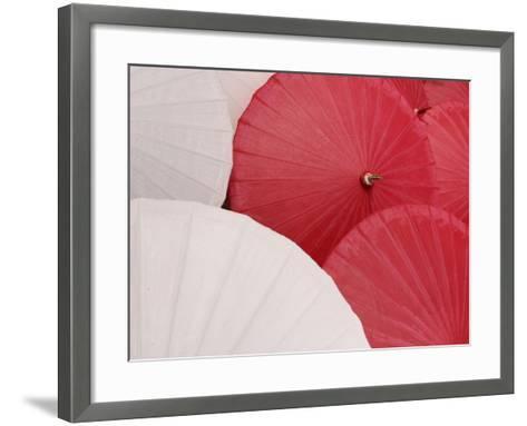Colorful Open Asian Parasols--Framed Art Print