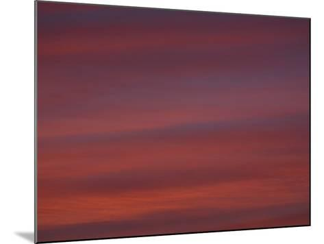 A Deep Red and Purple Sunset--Mounted Photographic Print