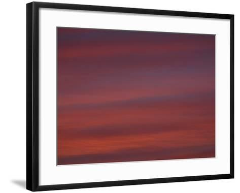 A Deep Red and Purple Sunset--Framed Art Print