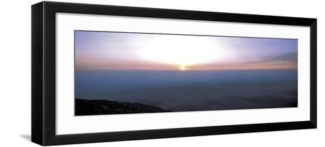 Bright Sunset with Dark Ocean Water--Framed Art Print