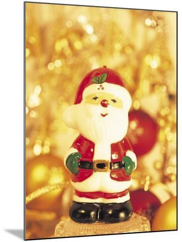 Close-up of a Santa Claus Figurine--Mounted Photographic Print