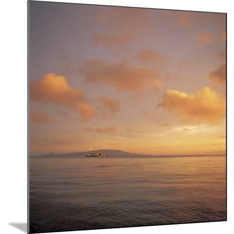 Golden Sunset Over Shimmering Ocean Waters--Mounted Photographic Print