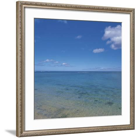 Blue Ocean Water to the Horizon--Framed Art Print