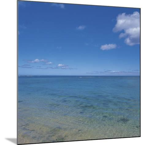 Blue Ocean Water to the Horizon--Mounted Photographic Print