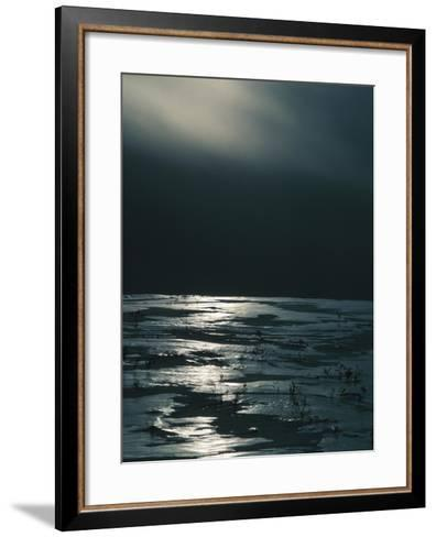 Moonlight Reflecting off Broken Ice--Framed Art Print