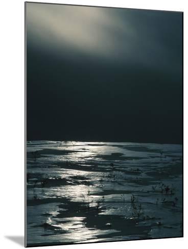 Moonlight Reflecting off Broken Ice--Mounted Photographic Print