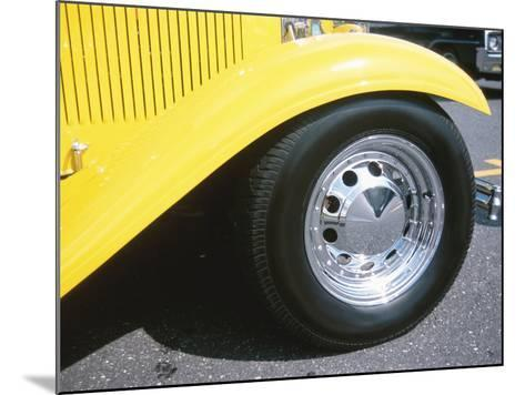 Tire on Antique Car--Mounted Photographic Print