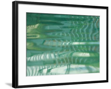 Smooth Green Water Rippling in a Pool--Framed Art Print